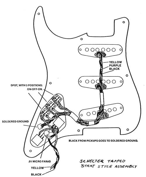 pickguard wiring of vintage schecter strat mark knopfler guitar site rh mk guitar com Bass Guitar Wiring Schecter Diamond Series Wiring Diagram