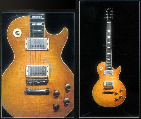 Peter Green's Les Paul Standard - all red faded, an 'unburst'
