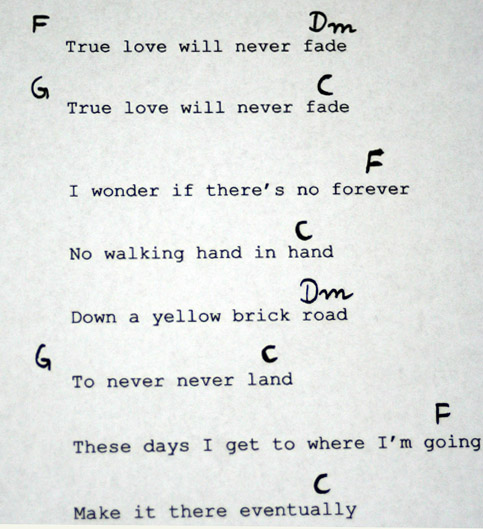 Understanding songs – chords and structure analysis of True love ...