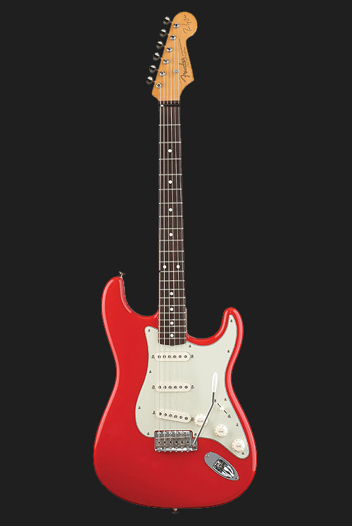 MK Signature Strat in hot rod red