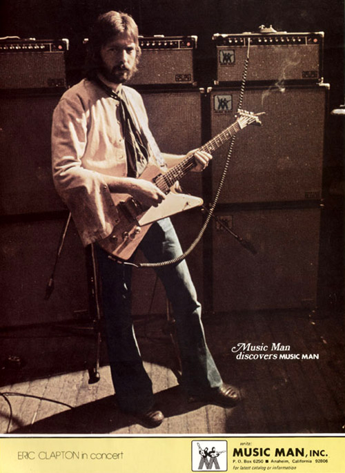 Eric Clapton, Music Man ad from 1976