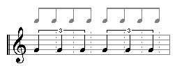 quarter note triplest do not fit into the normal grid
