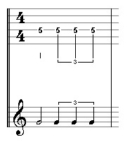 quarter note triplet