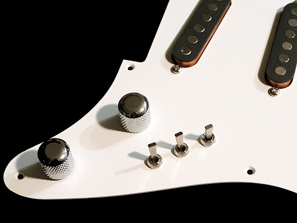 White Aluminium Schecter-style pickguards now available | Mark