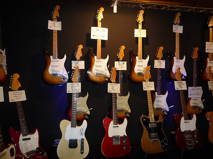 Last year you could see lots of vintage guitars-  not this year