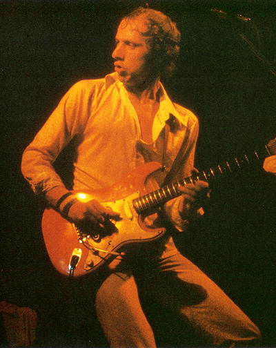 MArk Knopfler on stage in late 1978
