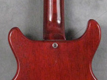 Strap button on a Les Paul Special, the guitar model Mark played before getting his Strats