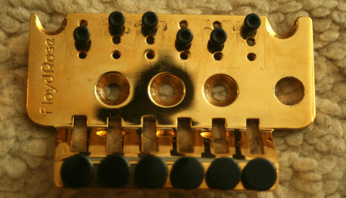 The Schaller Floyd Rose tremolo on the Pensa Suhr MK-1