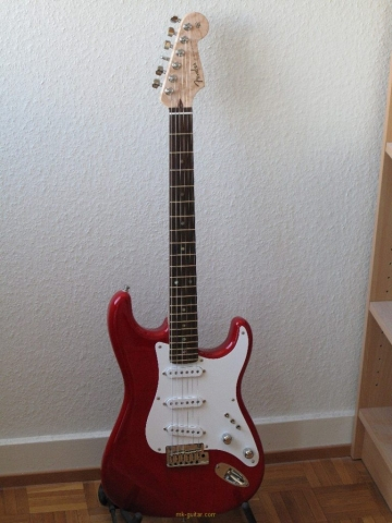 Steve from Switzerland: the VFS-1 pickguard on a guitar with rosewood fingerboard